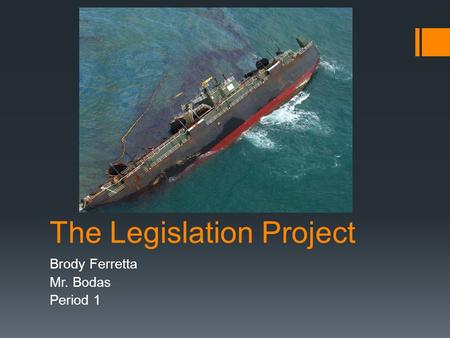 The Legislation Project Brody Ferretta Mr. Bodas Period 1.