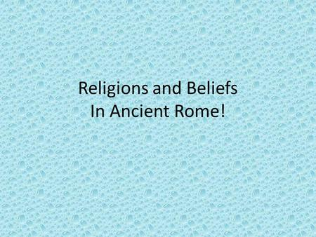 Religions and Beliefs In Ancient Rome!. Mars! God of war.