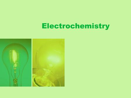 Electrochemistry. –the branch of chemistry that studies the electricity- related application of oxidation-reduction reactions –Redox reactions involve.