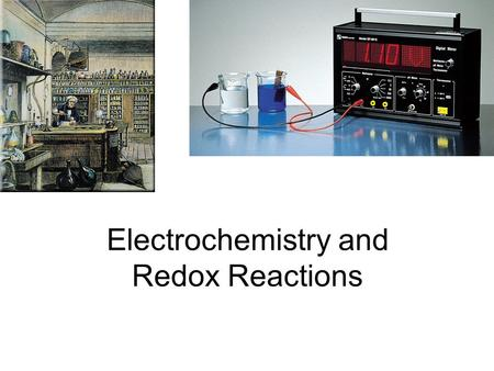 Electrochemistry and Redox Reactions. 2Mg (s) + O 2 (g) 2MgO (s) 2Mg 2Mg 2+ + 4e - O 2 + 4e - 2O 2- Oxidation half-reaction (lose e - ) Reduction half-reaction.