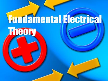 "Fundamental Electrical Theory. Definitions Current (I): flow of electric charges per unit time or ""flow rate"", measured in ""amperes"" or ""amps"" (A) Electromotive."