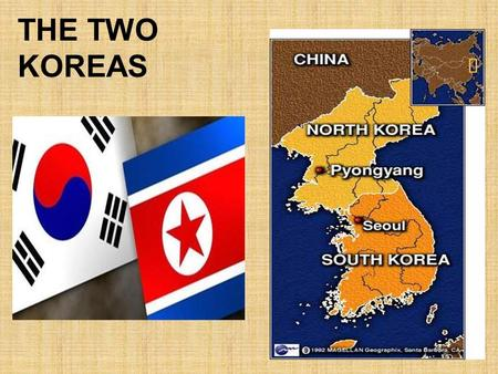 THE TWO KOREAS. After 35,000 Americans and nearly four million North and South Koreans died, an armistice was signed that left the borders where they.