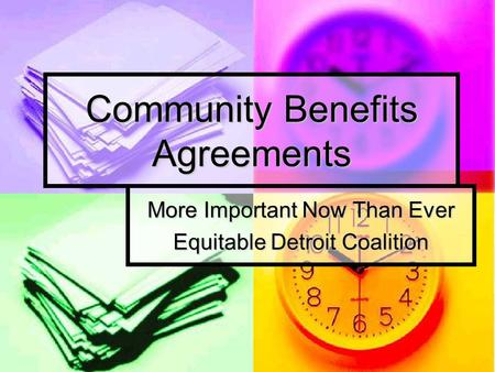 Community Benefits Agreements More Important Now Than Ever Equitable Detroit Coalition.