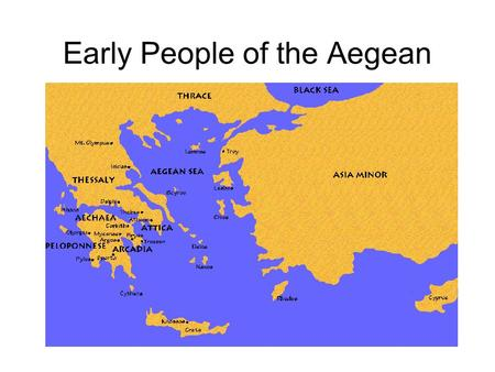 Early People of the Aegean. Theseus and the Minotaur.