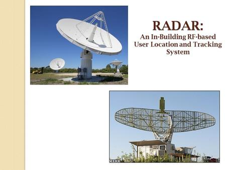 RADAR: An In-Building RF-based User Location and Tracking System.