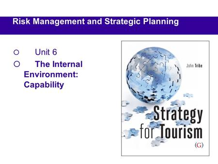  Unit 6  The Internal Environment: Capability Risk Management and Strategic Planning.