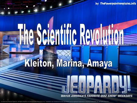 PeopleScienceInventionsDates/ Events Misc. $100 $200 $300 $400 $500 FINAL JEOPARDY FINAL JEOPARDY.