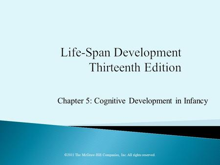 Chapter 5: Cognitive Development in Infancy ©2011 The McGraw-Hill Companies, Inc. All rights reserved.