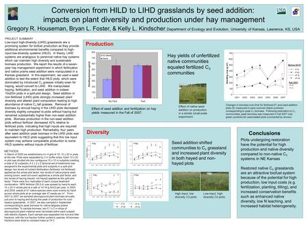 PROJECT SUMMARY Low-input high-diversity (LIHD) grasslands are a promising system for biofuel production as they provide additional environmental benefits.