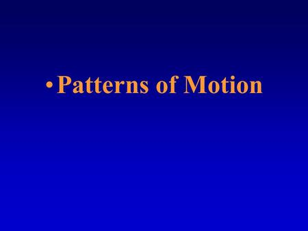 Patterns of Motion. In a moving airplane, you feel forces in many directions when the plane changes its motion. You cannot help but notice the forces.