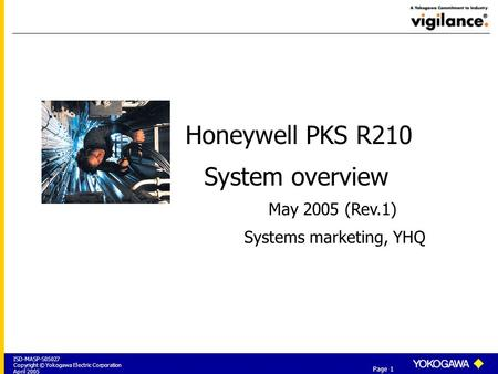 Honeywell PKS R210 System overview May 2005 (Rev.1)