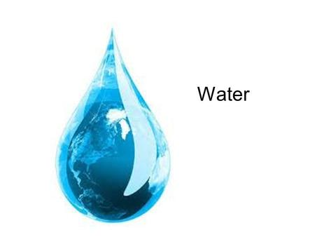 Water. Earth's Hydrosphere Hydrosphere = all the parts of the earth that are made up of water –Oceans, Lakes, Rivers –Underground water, clouds.
