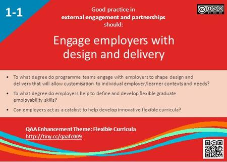 To what degree do programme teams engage with employers to shape design and delivery that will allow customisation to individual employer/learner contexts.