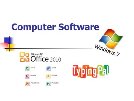 Computer Software. In This Presentation You Will Learn 1.The names of some important types of software. 2.Software Vs. Hardware 3.The function of the.