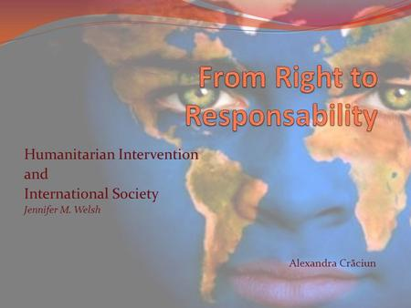 From Right to Responsability