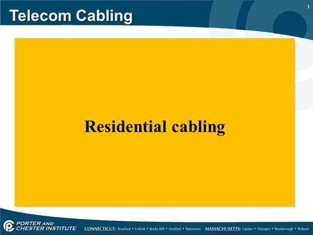 1 Telecom Cabling Residential cabling. 2 Telecom Cabling Approximately 1.6 million new homes are being built in the United States each year, and a surprisingly.