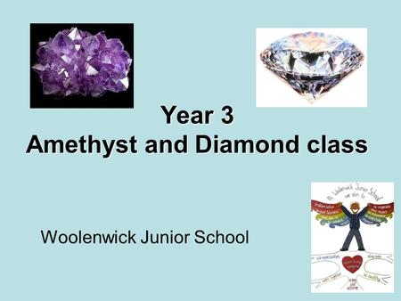 Year 3 Amethyst and Diamond class Woolenwick Junior School.