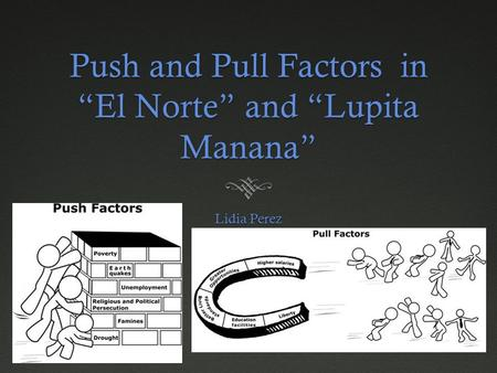 "Push and Pull Factors in ""El Norte"" and ""Lupita Manana"""