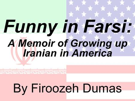firoozeh dumas th f word The 'f word' - firoozeh dumas dumas begins by stating the names of her family members, such as her cousin, and brother, and explains what people in america has nicknamed them, or how people in america reacted to these names dumas.