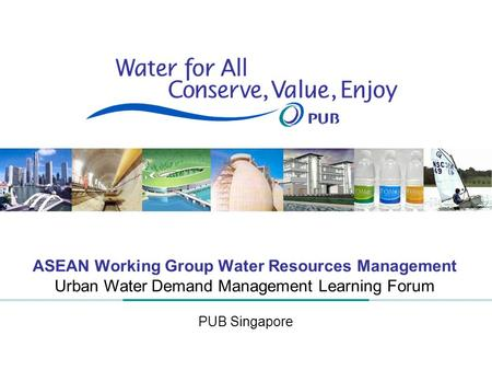ASEAN Working Group Water Resources Management