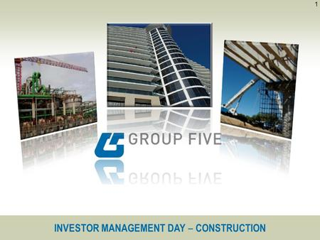 INVESTOR MANAGEMENT DAY ‒ CONSTRUCTION 1. 2 Building and Housing Civil Engineering Engineering Projects Construction.