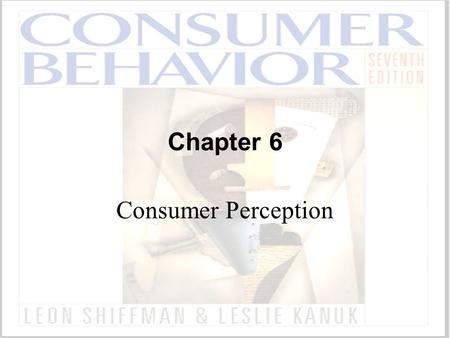 Chapter 6 Consumer Perception.