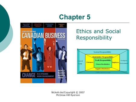 Nickels 6e/Copyright © 2007 McGraw-Hill Ryerson Chapter 5 Ethics and Social Responsibility.