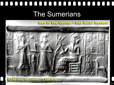 >>0 >>1 >> 2 >> 3 >> 4 >> The Sumerians. >>0 >>1 >> 2 >> 3 >> 4 >> 1) The Rise of Sumer The Sumerians developed the first civilization in Mesopotamia.
