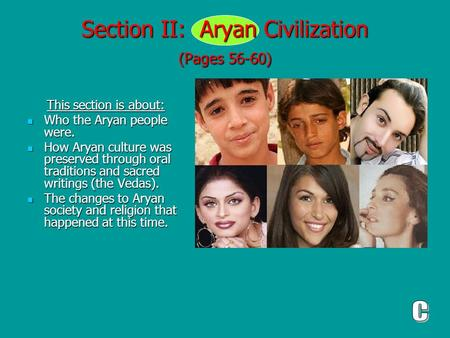 Section II: Aryan Civilization (Pages 56-60)