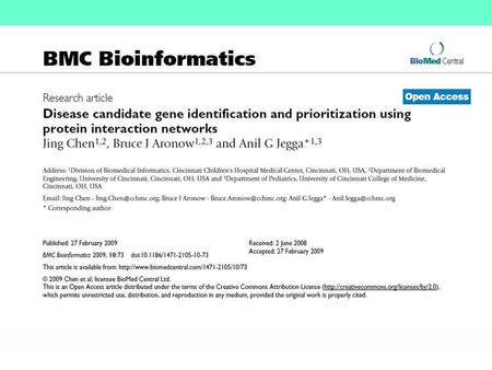 Abstract Background: In this work, a candidate gene prioritization method is described, and based on protein-protein interaction network (PPIN) analysis.