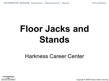 Floor Jacks and Stands Harkness Career Center. Floor Jacks Parts Identification.