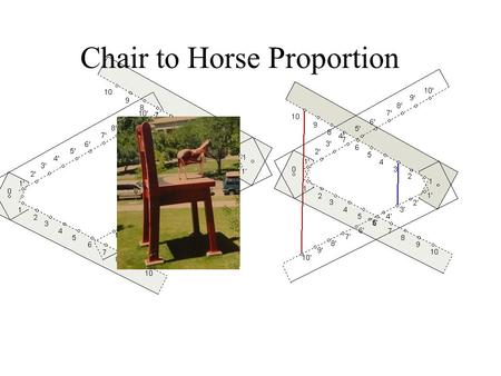 Chair to Horse Proportion Lines of Superficies The marks are not equally spaced.