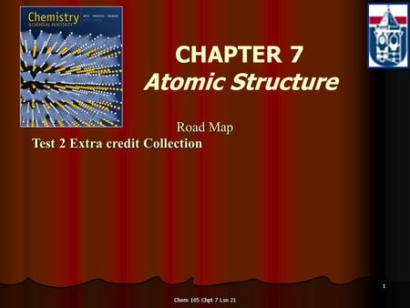 Chem 105 Chpt 7 Lsn 21 1 CHAPTER 7 Atomic Structure Road Map Test 2 Extra credit Collection Road Map Test 2 Extra credit Collection.
