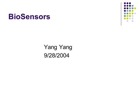 BioSensors Yang Yang 9/28/2004. Outlines BioMEMS Enzyme-coated carbon nanotubes Microcantilever biosensor with environmentally responsive hydrogel Cantilever.