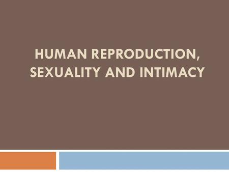 HUMAN REPRODUCTION, SEXUALITY AND INTIMACY. Caring for the Female Reproductive System  The most common problems are as follows: Vulvovaginitis - When.