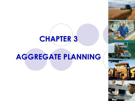 CHAPTER 3 AGGREGATE PLANNING. LEARNING OBJECTIVES Define aggregate planning and how it is useful Identify optional strategies for developing an aggregate.