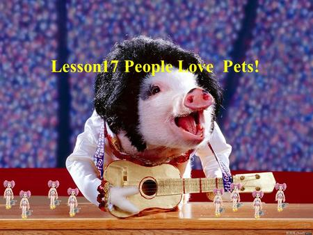 Lesson17 People Love Pets!. Think about it 1 、 What's your favourite animal? 2 、 Do you have a pet ?Would you like to have one?