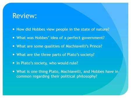 political philosophy and machiavelli 3 essay