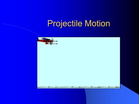 Projectile Motion. What Is It? Two dimensional motion resulting from a vertical acceleration due to gravity and a uniform horizontal velocity.