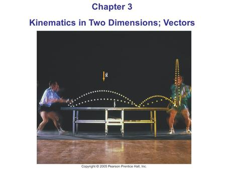 Chapter 3 Kinematics in Two Dimensions; Vectors Trigonometry Review.