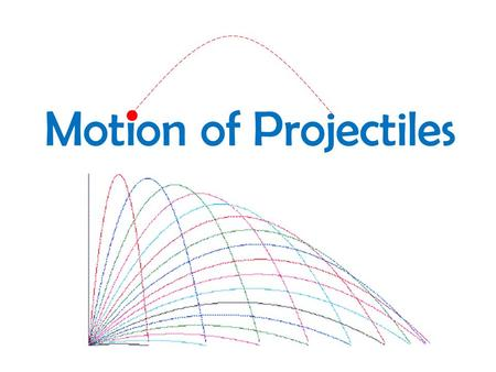Motion of Projectiles. An object that has projectile motion has an initial velocity, follows a curved path(trajectory) and reaches the ground due to the.