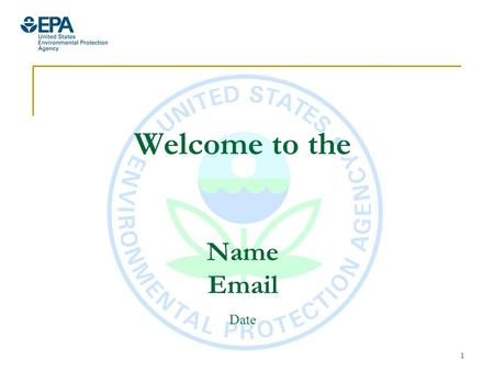 1 Welcome to the Name Email Date. 2 EPA was established in 1970 – a time when rivers caught fire… Rail car accident set the oily Cuyahoga River on fire.