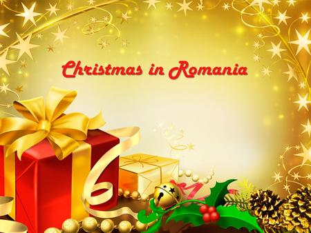 LOGO Christmas in Romania. We are in the South-East part of Europe.