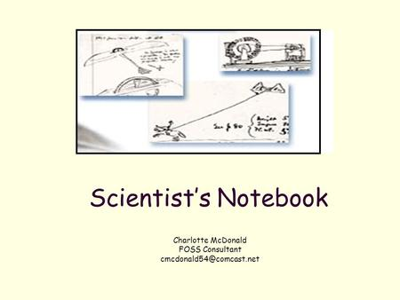 Charlotte McDonald FOSS Consultant Scientist's Notebook.
