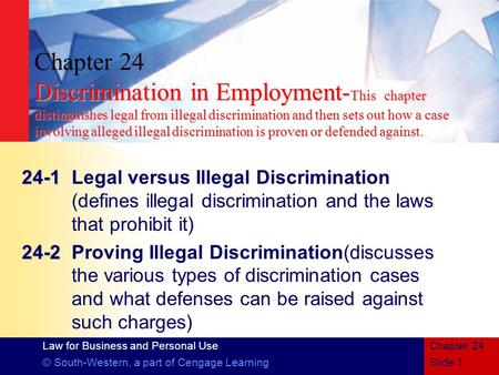 1 discrimination in employment Find our fact sheet on workplace discrimination been unlawfully discriminated against in your employment the fair work ombudsman is committed to providing.