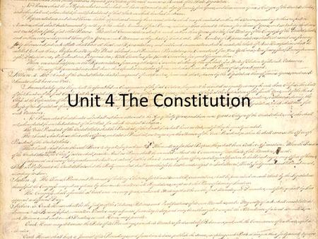 Unit 4 The Constitution. Role of Virginia in the Development of the Constitution Virginia Declaration of Rights, by George Mason States that all Virginians.