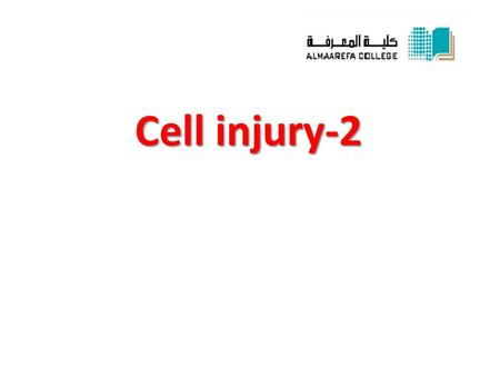 Cell injury-2. Fatty Change * Definition: abnormal accumulation of triglycerides within parenchymal cells. * Site:  liver, most common site which has.