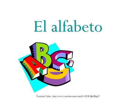 El alfabeto Youtube Video: