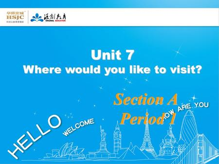 Unit 7 Where would you like to visit? Section A Period 1 Period 1.