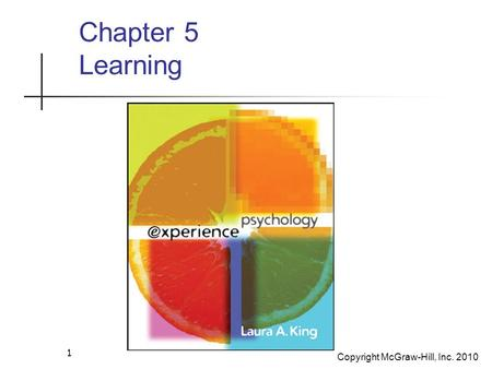 Copyright McGraw-Hill, Inc. 2010 1 Chapter 5 Learning.